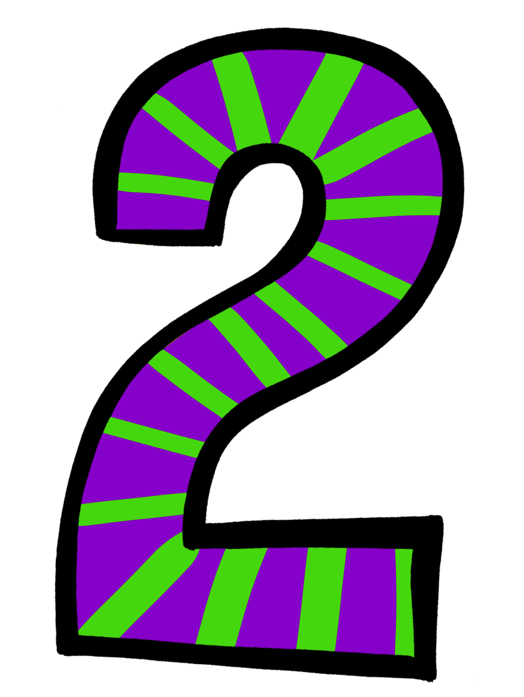 collection of number. 2 clipart numeral