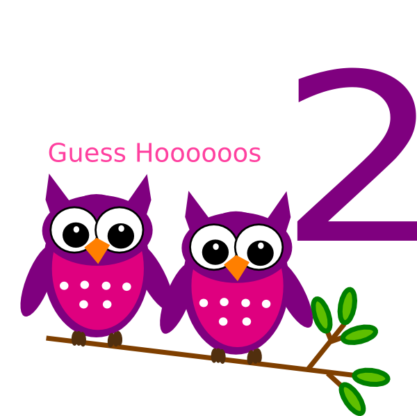 Number 2 clipart number 2nd.  nd birthday owl