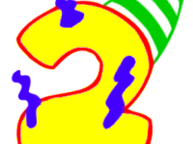 Number 2 clipart number 2nd. Birthday