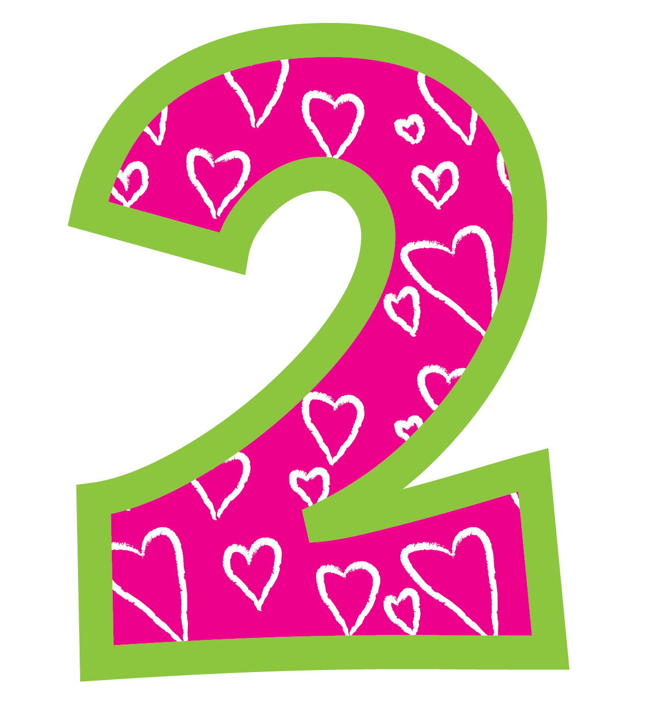 Birthday cliparts zone . Number 2 clipart number 2nd