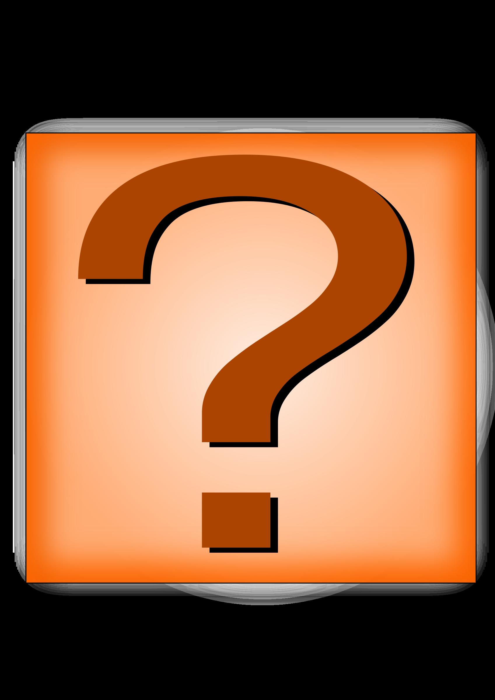 Question mark button big. Number 2 clipart orange