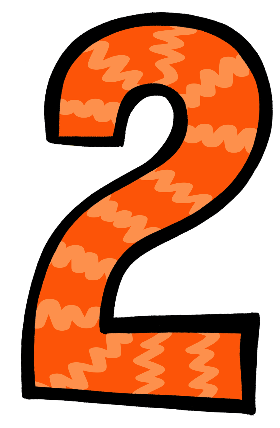 Number 2 clipart orange. Images image gallery