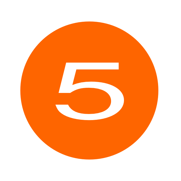 Number 2 clipart orange. Five clip art at