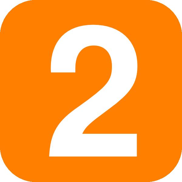 Clip art at clker. Number 2 clipart orange