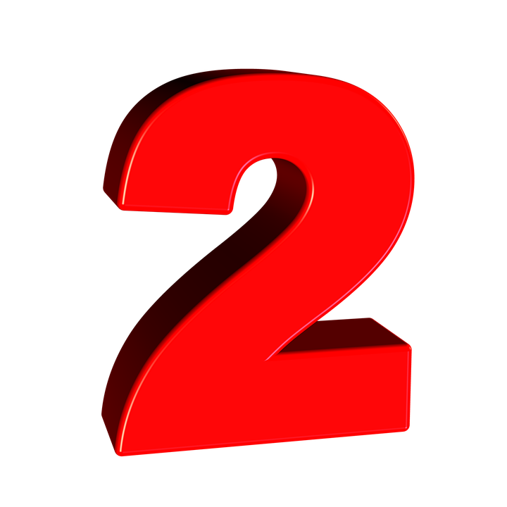 Number 2 clipart red, Number 2 red Transparent FREE for ... (720 x 720 Pixel)