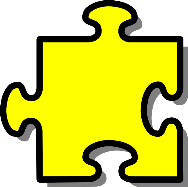Puzzle piece clip art. Wednesday clipart yellow