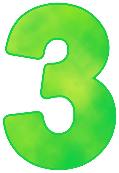 Number png images free. Clipart numbers three
