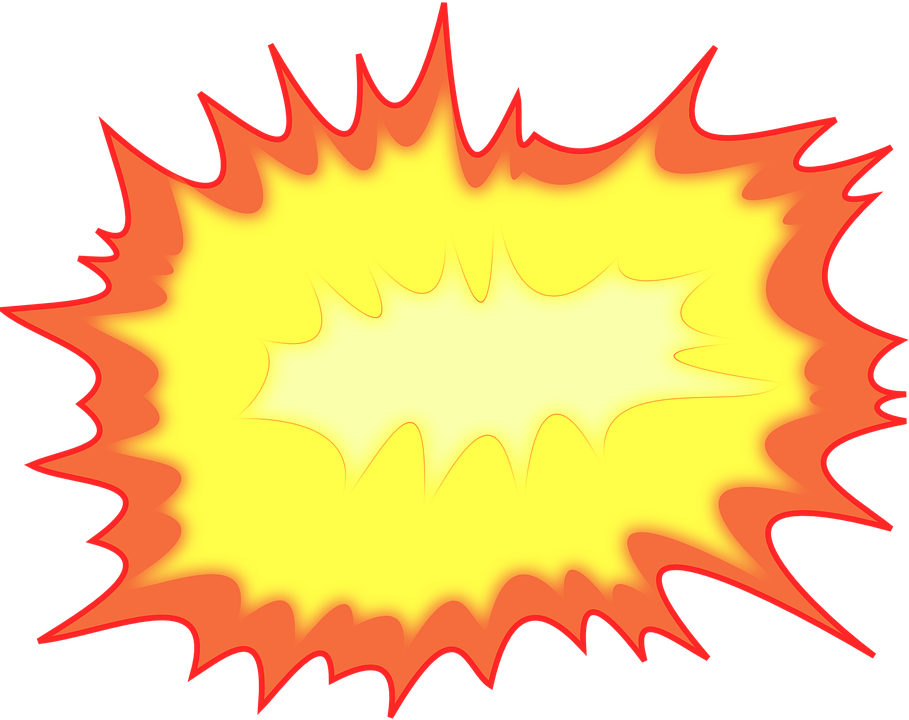 Boom animated fire pencil. Planet clipart explosion