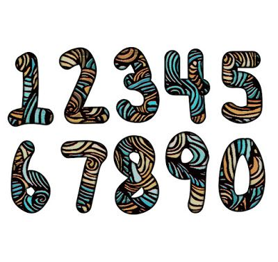 Number 3 clipart artistic. Patterned numbers free images