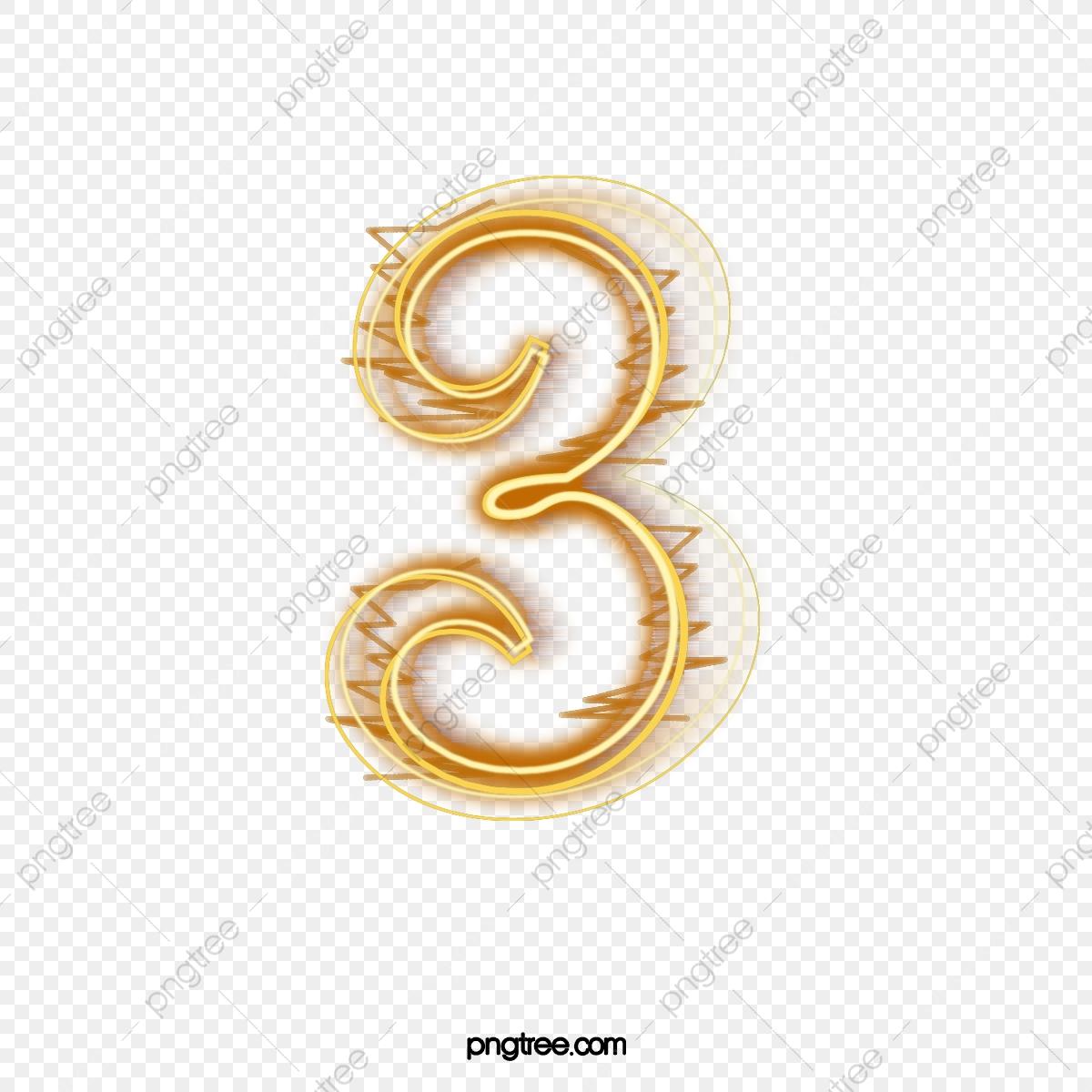 Number 3 clipart golden. Blaze white png