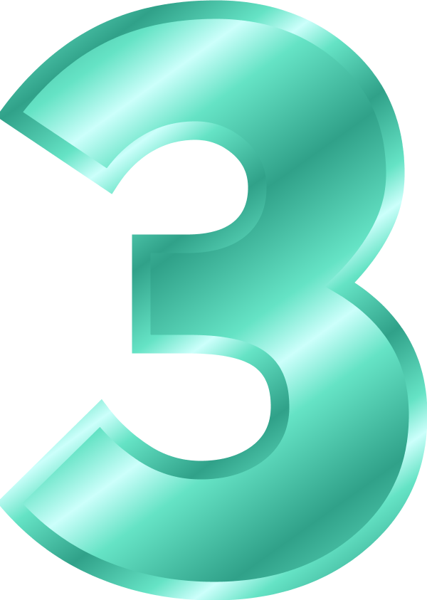 collection of number. 3 clipart three