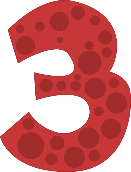 Number 3 Clipart Polka Dot  Number 3 Polka Dot Transparent
