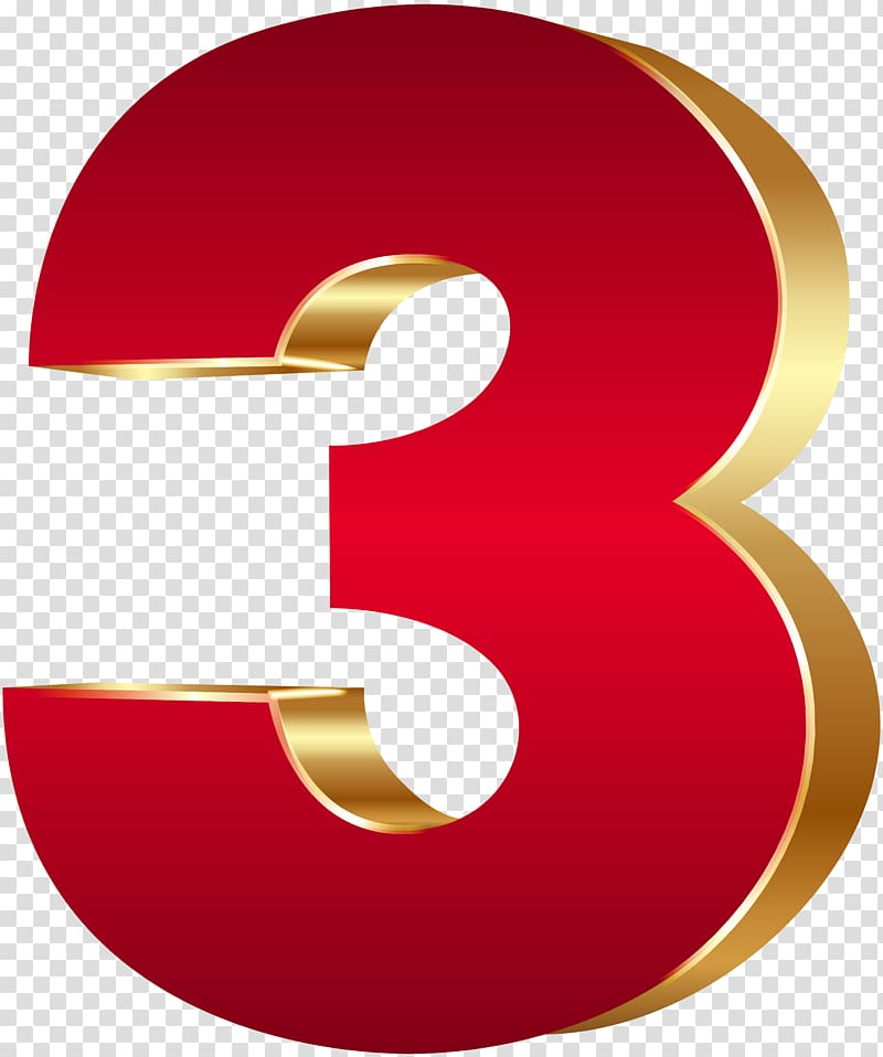 Number 3 Clipart Red  Number 3 Red Transparent Free For
