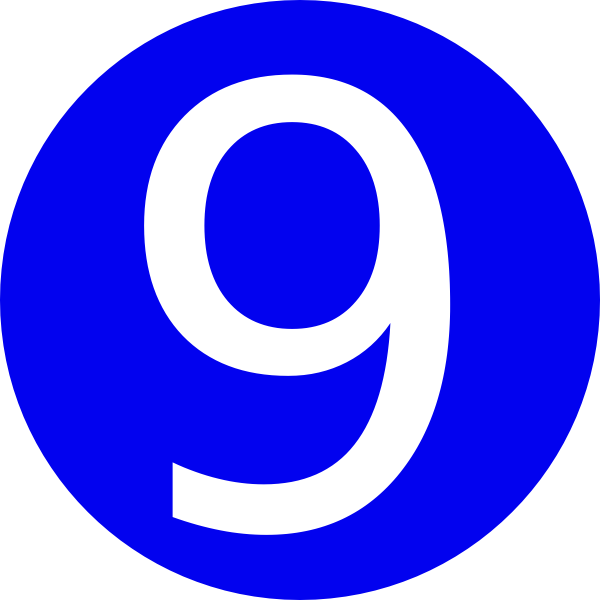 Number clipart blue. Rounded with clip art