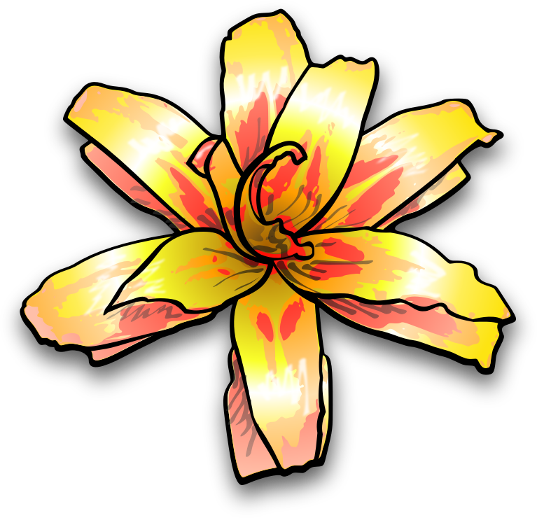 Number 4 clipart bright. Flower by jimmiet a