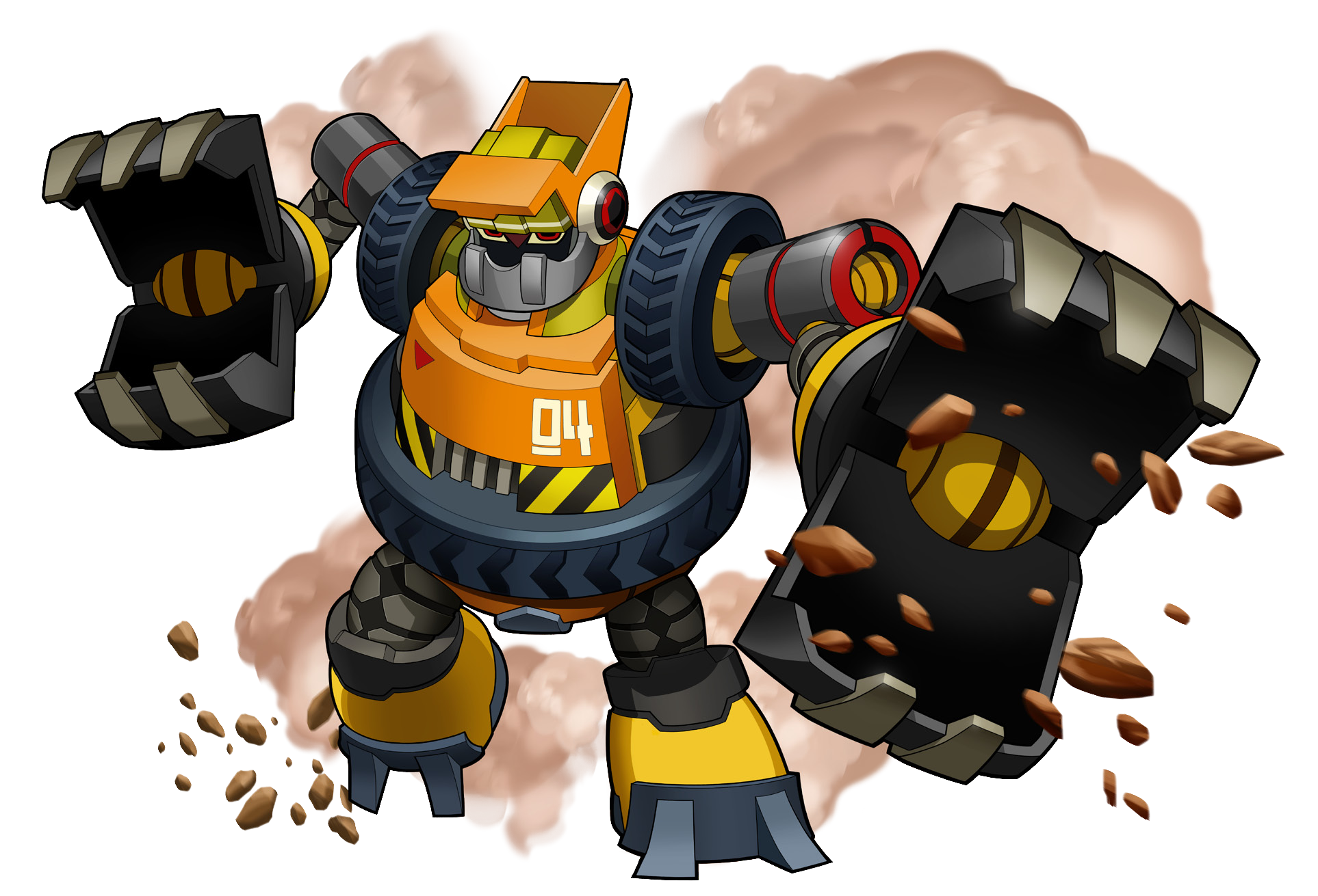 Number 4 clipart character. Seismic mighty no wiki
