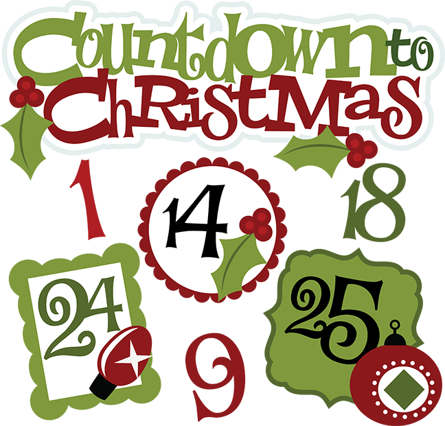 Countdown . Quilting clipart christmas