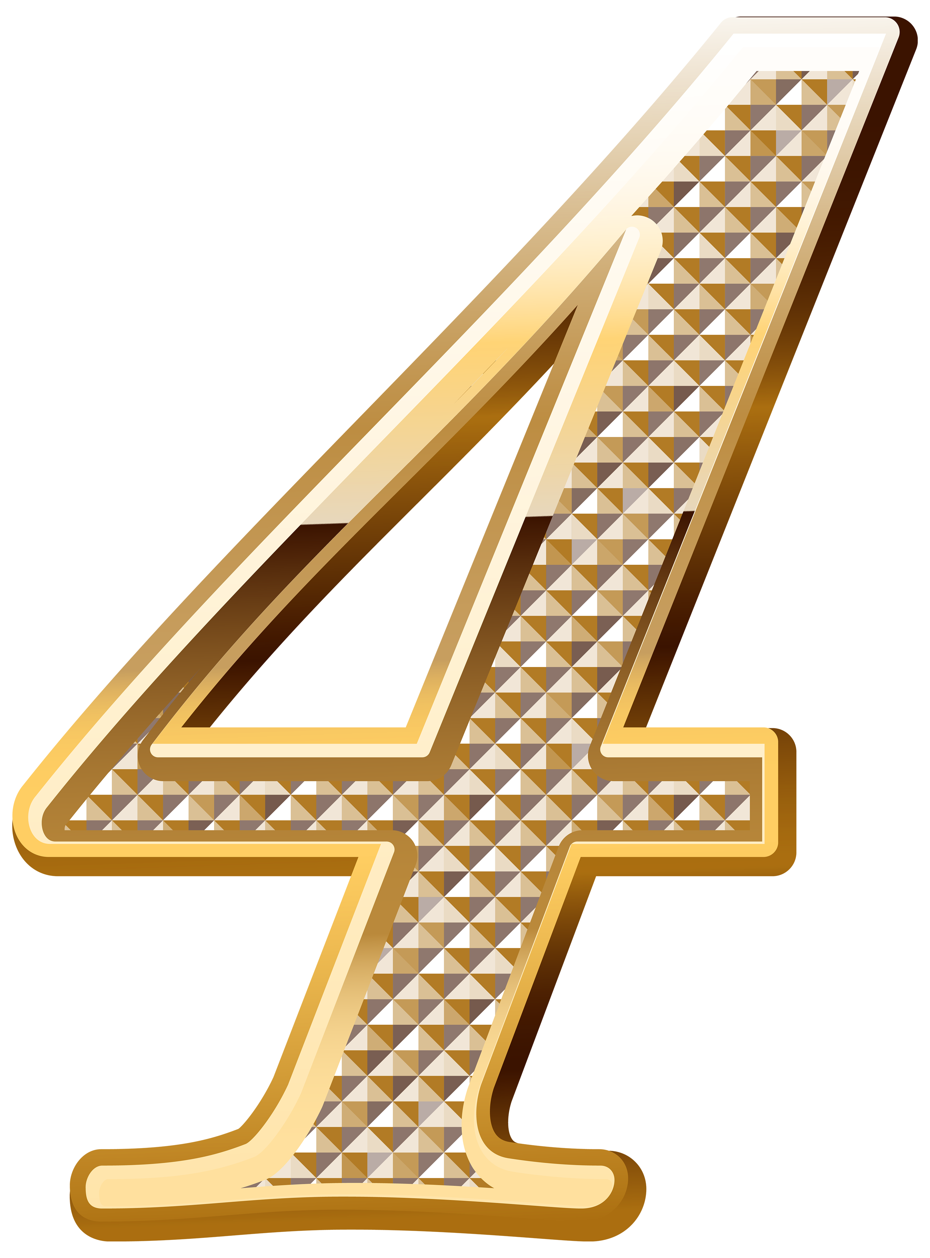 Deco four png image. Number 4 clipart gold