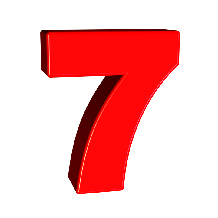 7 clipart red. Number png images free