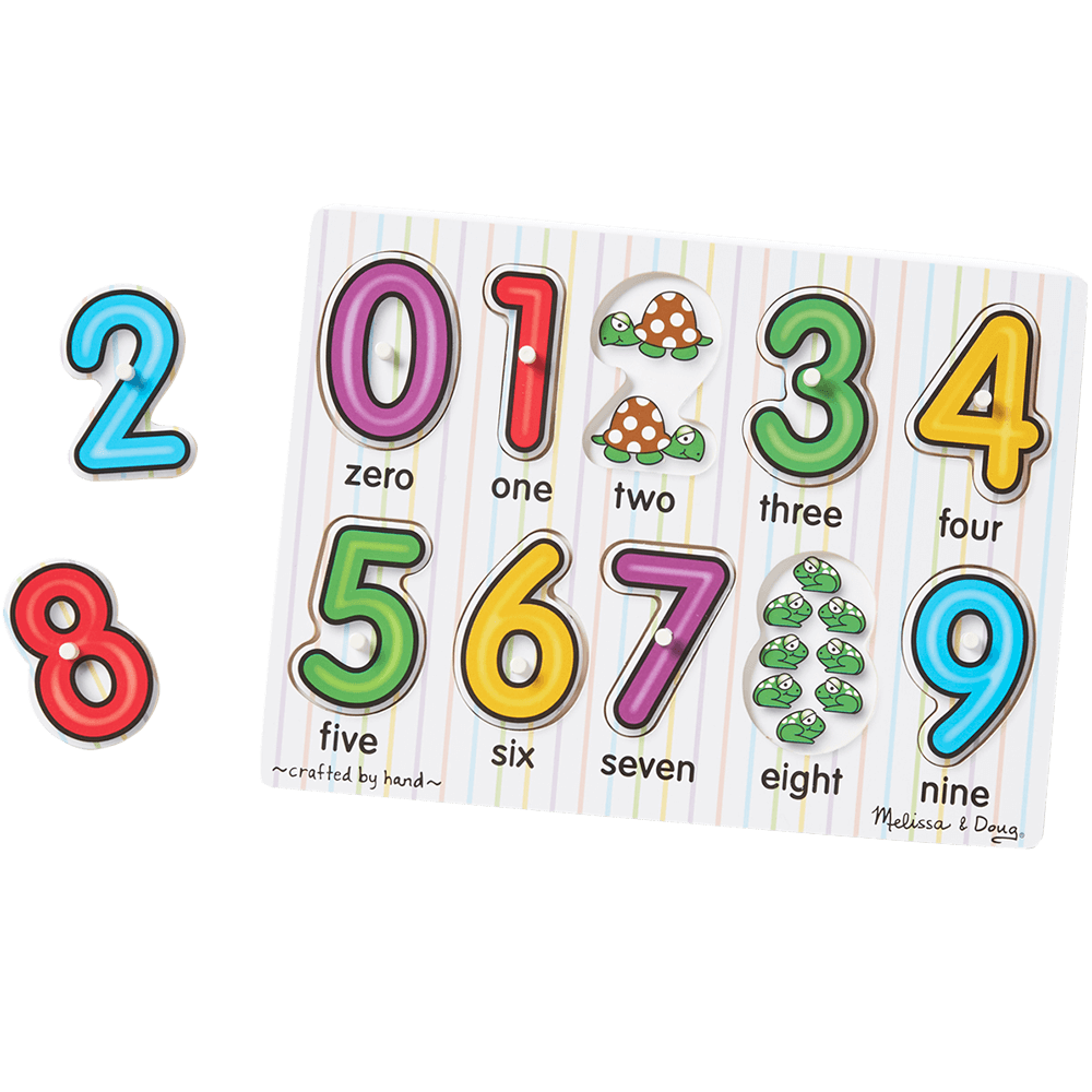 Number 4 clipart number puzzle. See inside numbers peg