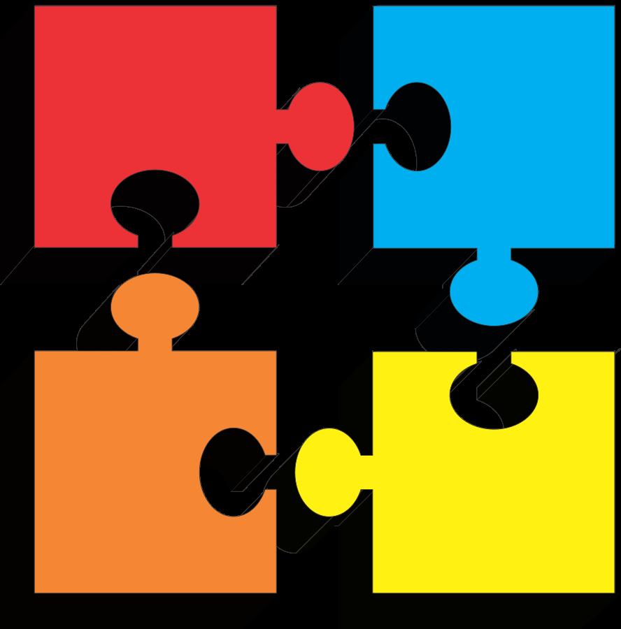 Free download clip art. Puzzle clipart 4 piece