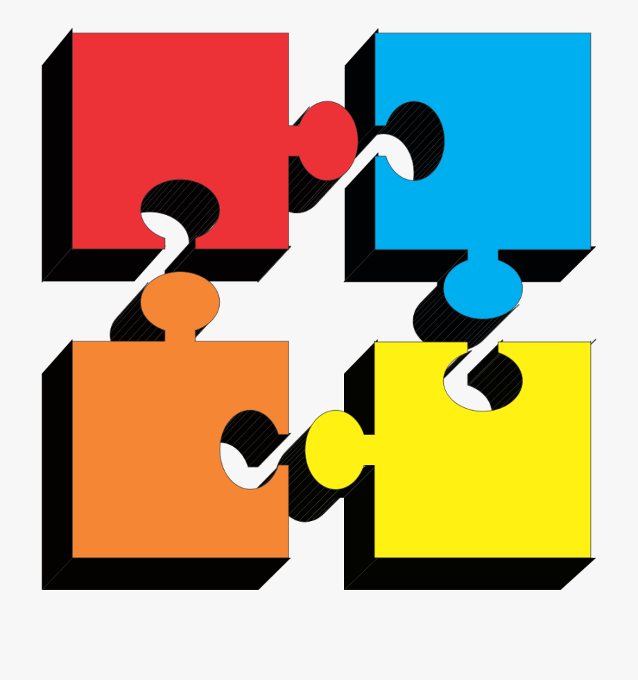 Puzzle clipart 4 piece. Pieces of free