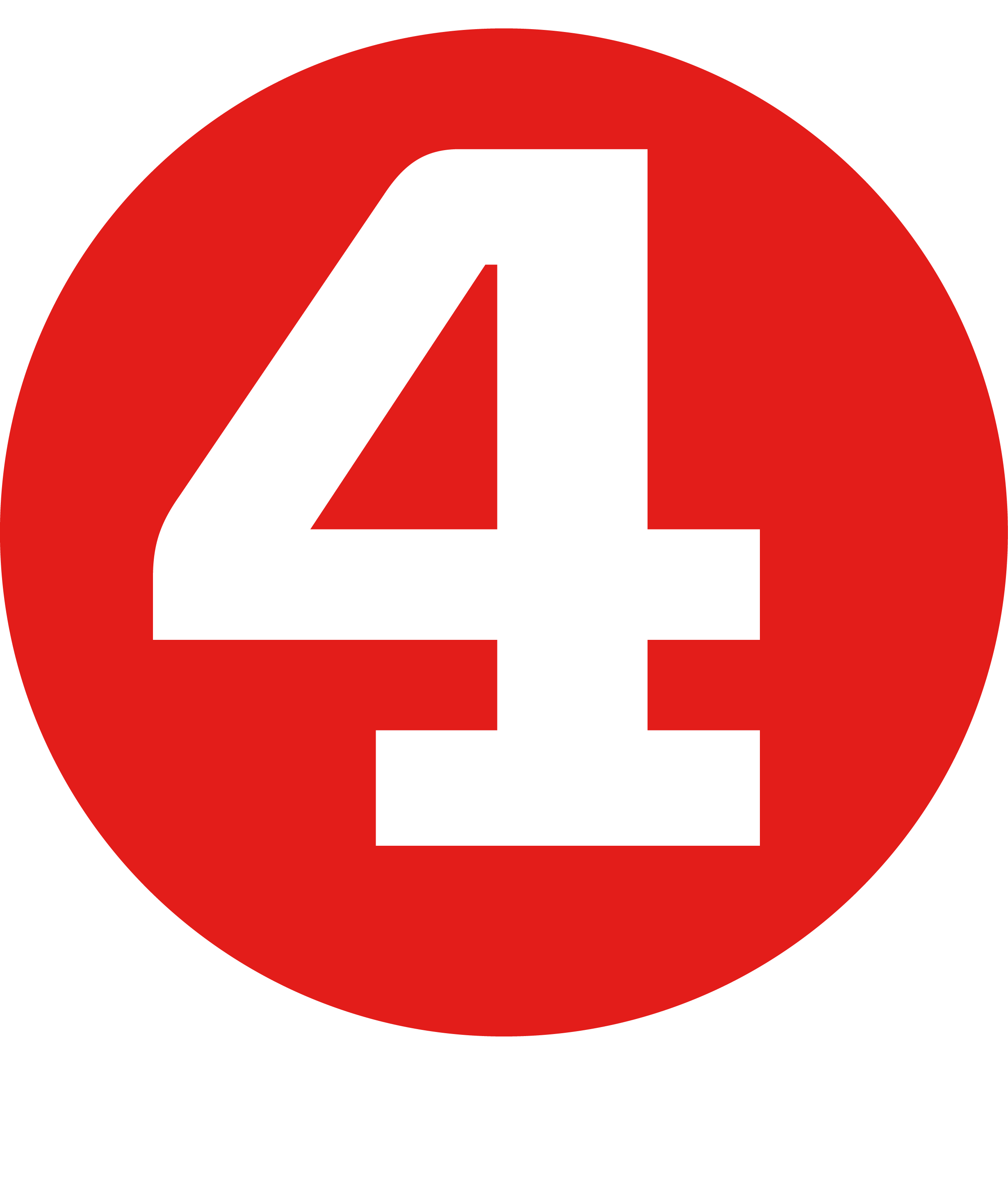 Number 4 Clipart Red  Number 4 Red Transparent Free For