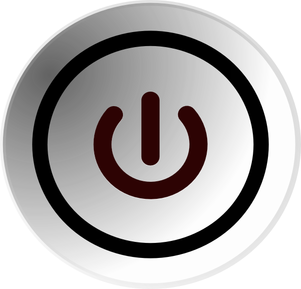 Power button clip art. Technology clipart symbol