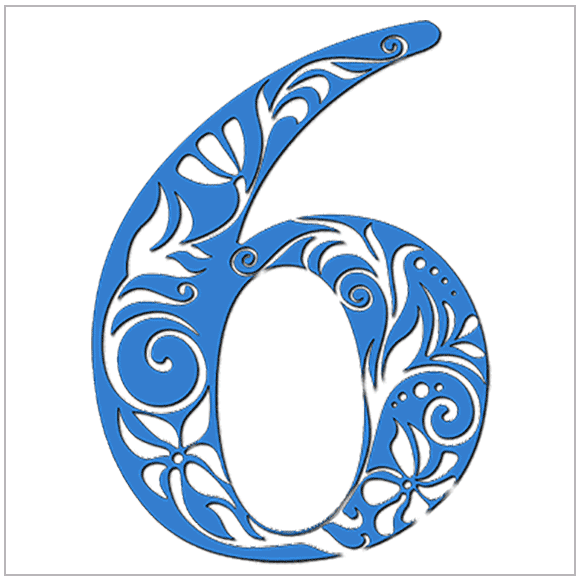 Number 6 clipart individual number. Numerology meaning of expression