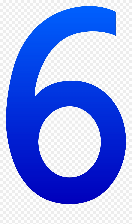 Blue png download . Number 6 clipart logo