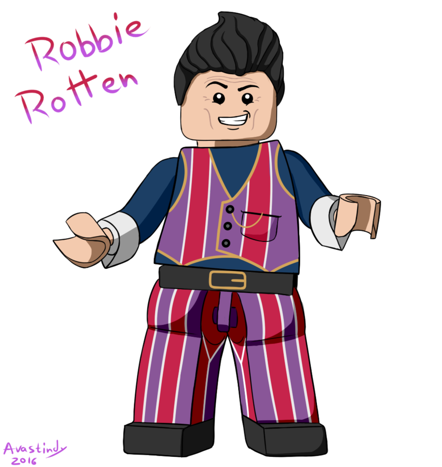Robbie rotten by avastindy. Number 6 clipart number lego