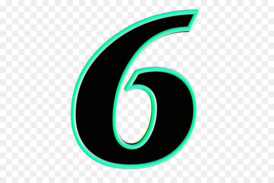 Number 6 clipart numerical number. Circle logo green font