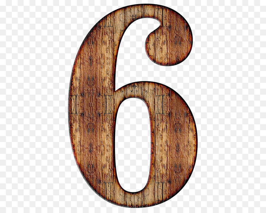 Wooden png digit download. Number 6 clipart numerical number