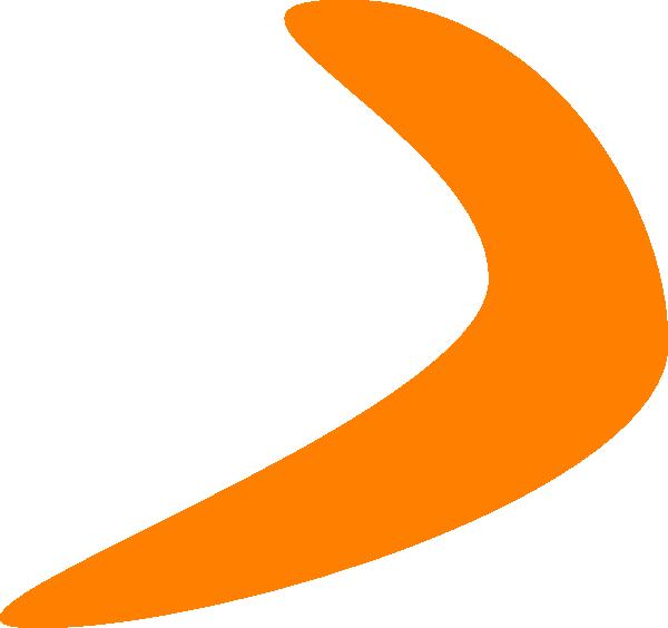 Shapes clipart retro. Orange boomerang clip art