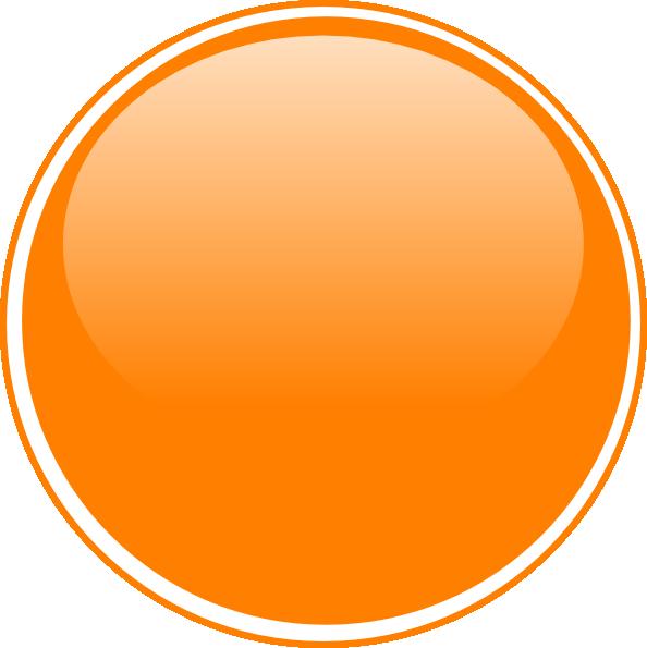 Glossy Orange Button Clip Art at Clker