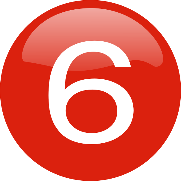 Number 6 clipart small. Clip art at clker