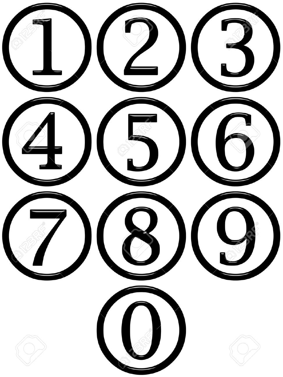 Numbers clipart black and white. Number clip art panda