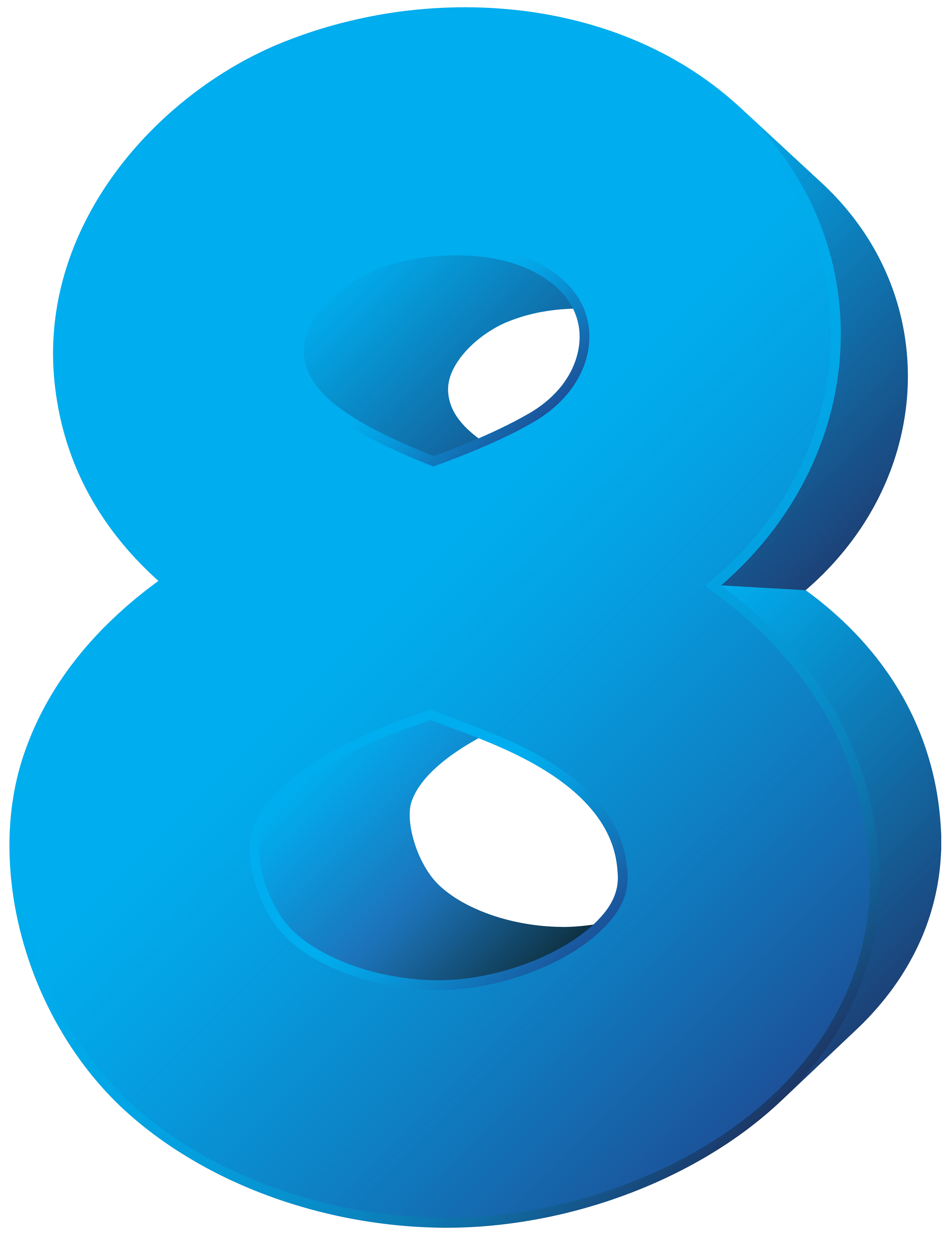 Number clipart blue. Eight transparent png clip