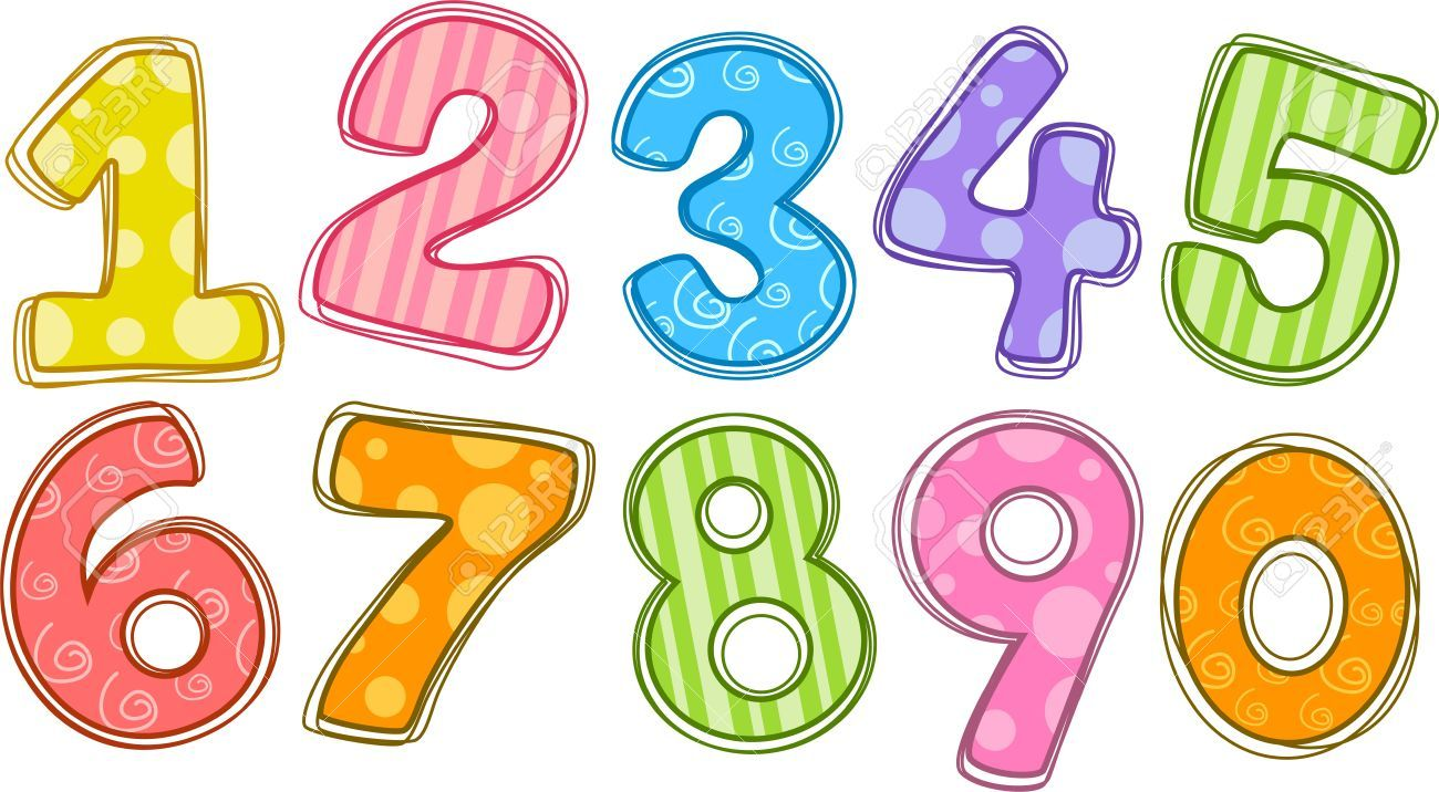 Number clipart counting. Numbers clip art n