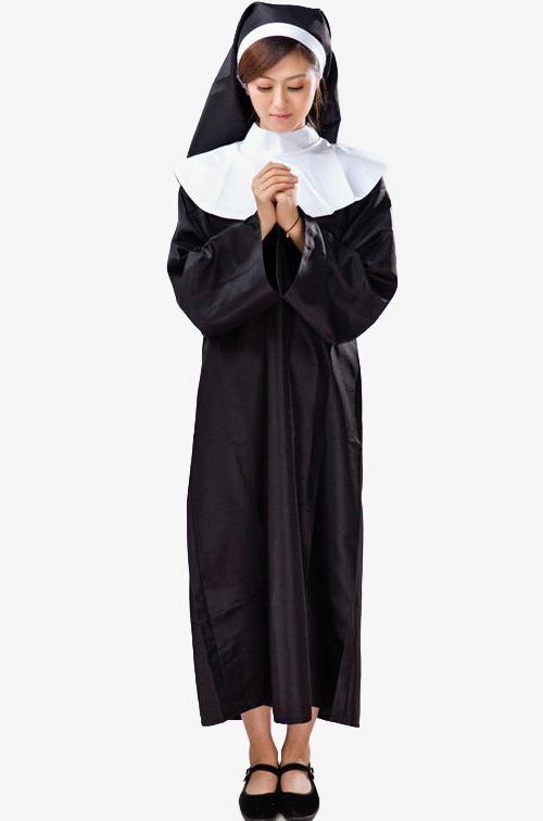 Modern pious nuns light. Nun clipart
