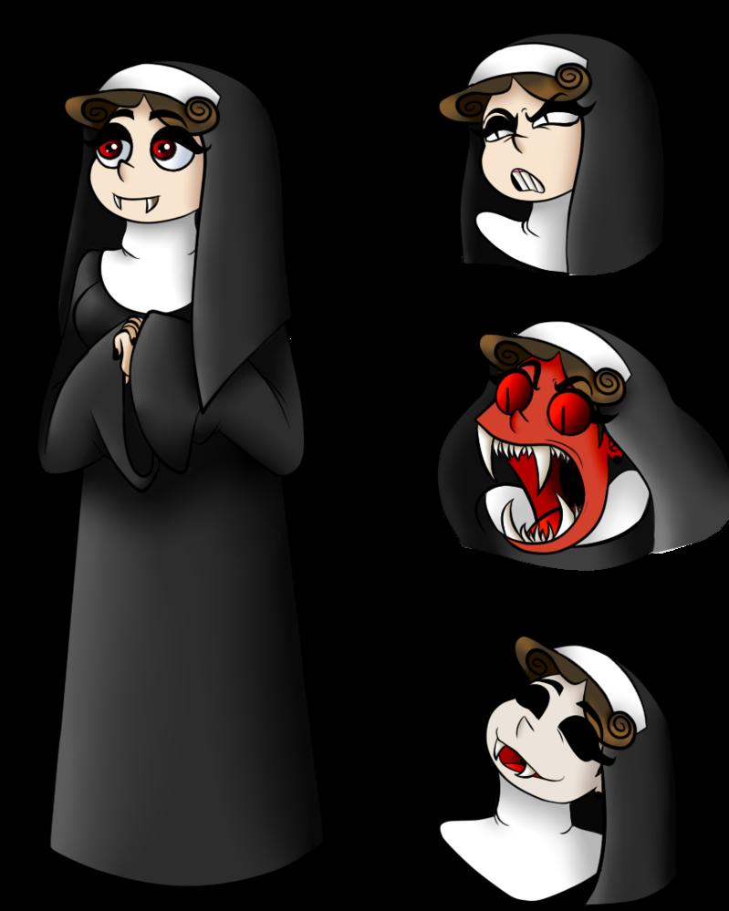 Pumpkin clipart vampire. Halloween costume nun by