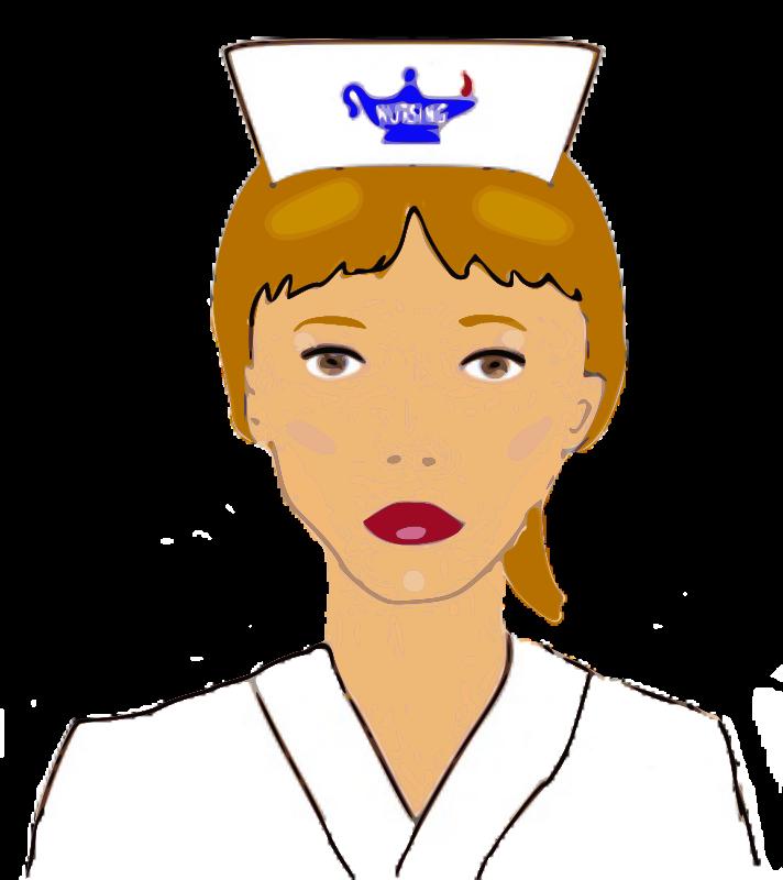 Nursing nurses cap smiley. Nurse clipart accessory