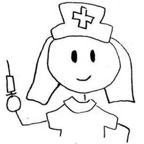 Free download clip art. Nurse clipart black and white