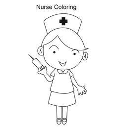 Nurse clipart black and white. Free cliparts download clip