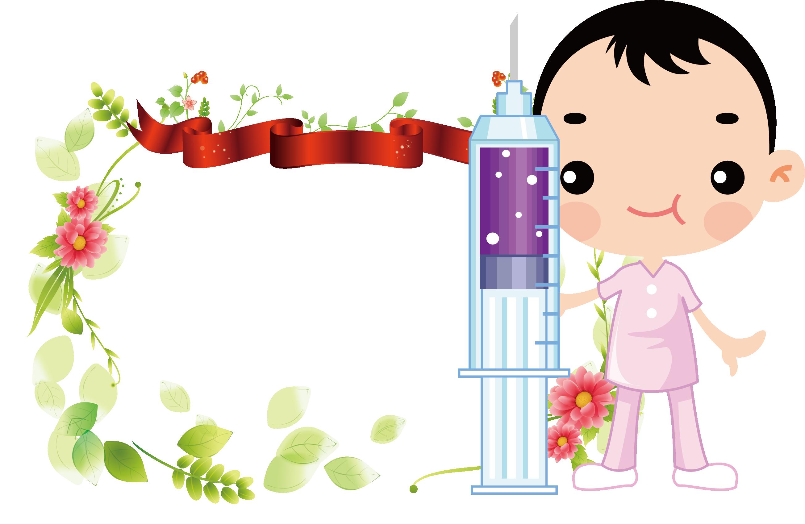 Nurse clipart borders. International nurses day syringe