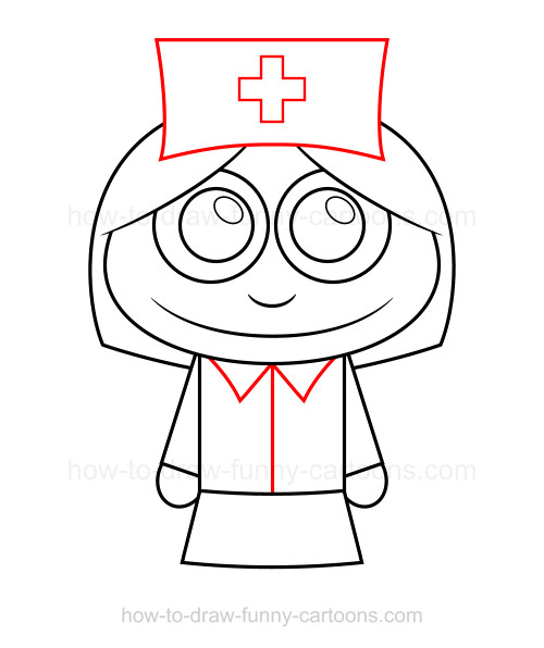 How to draw a. Nurse clipart easy