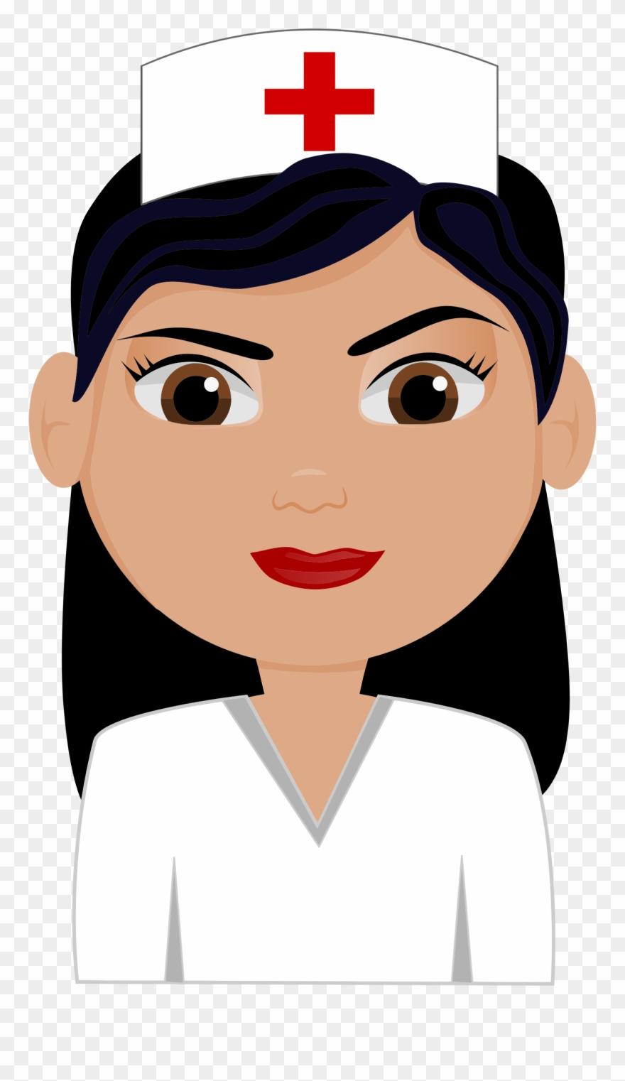 Nursing clipart face. Free cute nurse picture