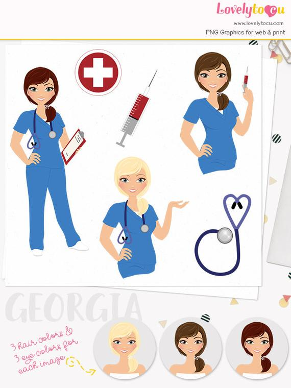 Woman character blood health. Nurse clipart lab test