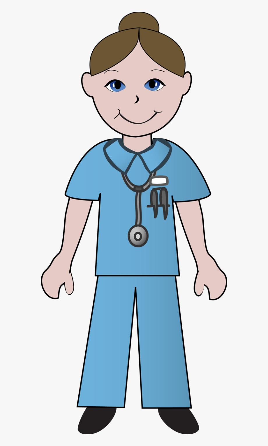 Cartoon nurse male free. Nursing clipart medical field