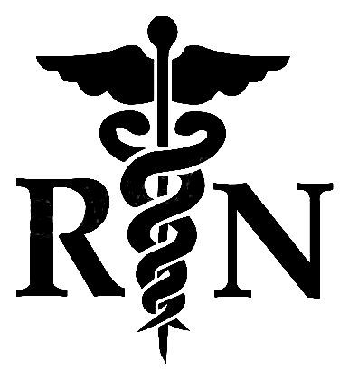 Caduceus registered rn bsn. Nurse clipart medical field
